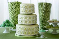 In honor of St. Patrick's Day- we're going with a green theme to inspire you! Hopefully this saves us from getting pinched!   www.aweddingonabudget.com