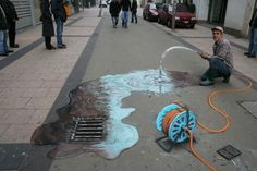 """""""unbelievable 3D pavement drawings"""": #1 Waste of water"""
