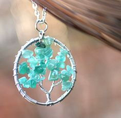 Tree of Life Fertility Necklace  Green by TheFertileGarden on Etsy, $26.00