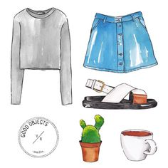 Good objects - Saturday's looks… ✌️ #goodobjects #illustration