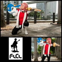 Cosplay: Haruko Haruhara from FLCL Model: @amanda_pls #tbt #throwbackthursday #cosplay #cosplayer #cosplayphotography #yheezyphotography #anime #manga #HarukoHaruhara #flcl #foolycooly #colorsplash