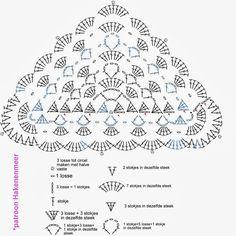 Haken en meer: Patroon gehaakte omslagdoek Scheepjeswol