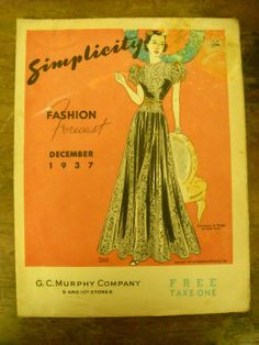 Simplicity 2611 featured in Simplicity Fashion Forecast, December 1937
