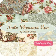 Toile Pheasant Run Fat Quarter Bundle Little Quilts for Henry Glass Fabrics - Fat Quarter Shop