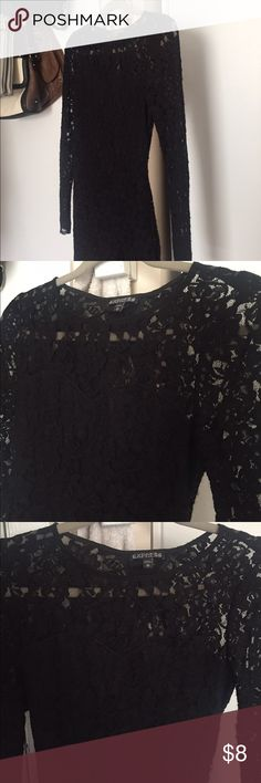 Black laced dress Black laced tight dress Express Dresses Mini