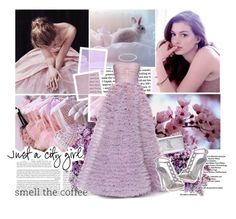 """Amazing Luisa dress.Light purple inspiration."" by glow212 ❤ liked on Polyvore featuring Yves Saint Laurent, LUISA BECCARIA, Tiffany & Co. and Pelle Moda"