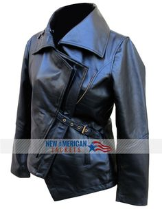 For those ladies, who love to escalate their status grasp this stylish wear of The Hunger Games Catching Fire Black Leather Jacket. for Happy Halloween Sale!!  #TheHungerGames #movie #JenniferLawrence #Halloween #Sexy #Celebrities #Fashion #Cosplay #Shopping #Costume #geek #geektyrant #OnlineStore #Womenfashion Womenoutfit