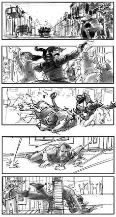 Storyboard for undefined film, by Marc Vena.