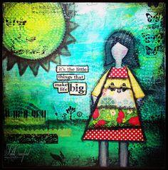 Mixed Media 12x12 Canvas  #mixedmedia #ranger