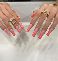 Vacation Nails, Heart Nails, Long Acrylic Nails, Cartier Love Bracelet, Nail Inspo, How To Do Nails, Coffin Nails, Diamond Rings, Nail Designs