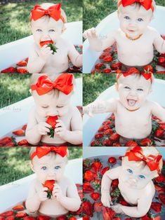 Strawberries and baby strawberry bath Fresh berry photoshoot. Strawberries and baby Strawberry Bath - Unique Baby Bathing Milk Bath Photos, Bath Pictures, Baby Girl Pictures, Newborn Pictures, First Birthday Photos, Birthday Pictures, 1st Birthday Girls, Milk Bath Photography, Baby Girl Photography