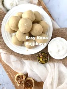 Kova Kajjikaya-Easy recipe using frozen coconut and Instant Khoya – Food, Fitness, Beauty and More