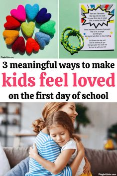 The first day of school can bring a lot of strong emotions for kids. Here are 3 lovely and meaningful first day of school gifts that will make them feel loved and calm their fears and worries! - First day jitters | Back to school anxiety | Advice for moms
