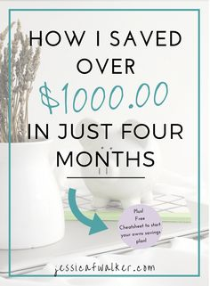 How to Start a Savings Plan that Works for You (plus a free cheat sheet!)