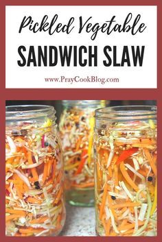 These colors look amazingly delicious... and I'll let you in on a little-known secret - this pickled vegetable sandwich slaw IS delicious! TRY IT TODAY!