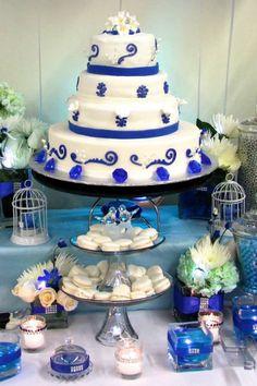 Felien Torres Lyn And Marissa Badilla Bitagon Dessert Table 45th Shire Blue Wedding Anniversary