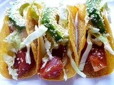 Seriously though... These are the BEST tuna tacos ever!  And so easily made gluten free!
