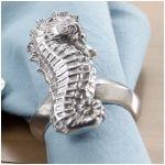 Seahorse napkin ring