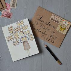 gorgeous lettering & cute illustration