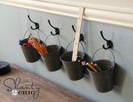 DIY Kids Art Supply Storage