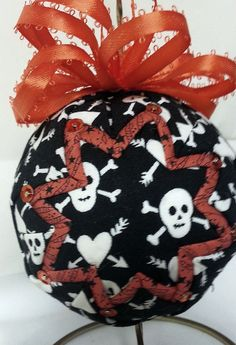 Halloween  Handmade Quilted Ornament Head by OrnamentsByRebeccaT