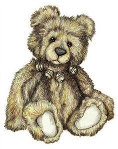 Teddy Bear Kevin Wood Signed Print van KevinWoodArtPrints op Etsy