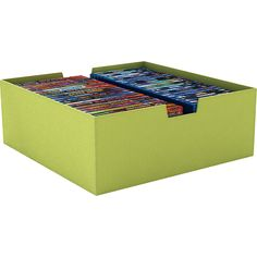 lime green dvd storage bin