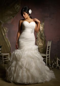 Shop Morilee's Mori Lee Bridal Stunning Ruffled Plus Size Organza Mermaid Wedding Dress. Wedding Dresses and Bridal Gowns by Morilee designed by Madeline Gardner. Stunning Ruffled Plus Size Organza Mermaid Bridal Dress. Wedding Dress Organza, Fall Wedding Dresses, Wedding Attire, Bridal Dresses, Bridesmaid Dresses, Organza Bridal, Prom Dresses, Dresses 2013, Gown Wedding