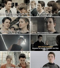 Peter Hayes (movie version, whom they made funny so miles teller would like the role) Peter Divergent, Divergent Memes, Divergent Fandom, Hunger Games Fandom, Divergent Trilogy, Divergent Insurgent Allegiant, Divergent Fanfiction, Miles Teller, Veronica Roth