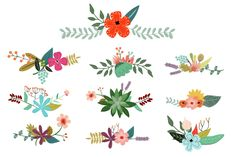 Vintage Vector Flowers by Mia Charro