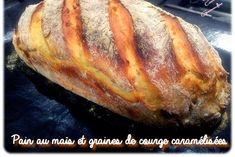 Pain au maïs et graines de courge caramélisées