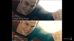 "What If ""Man of Steel"" Was IN COLOR? #manofsteel #superman #colors #design #film…"