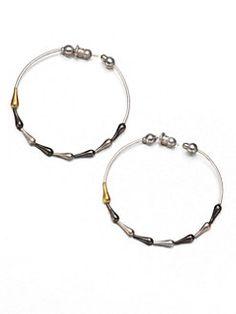 GURHAN - Spring 24K Yellow Gold & Sterling Silver Hoop Earrings/1.75