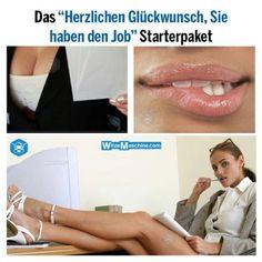 Frauenwitze: Sexy Starterpaket für Frauen im neuen Job - Schmutzige Witze