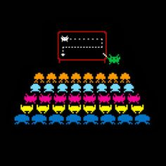 "Titled ""A Simple Plan"", this awesome image shows how those pesky Space Invaders planned their assault. Space Invaders, Hd Wallpaper Android, Mobile Wallpaper, Desktop Backgrounds, Desktop Wallpapers, A Simple Plan, Modele Pixel Art, Science Notebooks, Arte Popular"