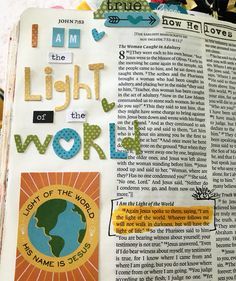 """Again Jesus spoke to them, saying, """"I am the light of the world. Whoever follows me will not walk in darkness, but will have the light of life."""" John 8:12   .#illustratedfaith #biblejournaling #biblejournalingcommunity #spreadthejoy #lightoftheworld"""