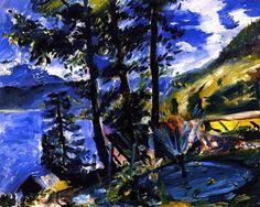 Walchensee with Fountain Lovis Corinth - 1923