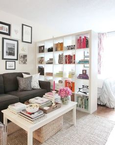 10 Ways to Make a Big Bedroom Feel Cozy | Apartment Therapy Small Apartment Layout, Studio Apartment Divider, Small Apartment Organization, Cute Apartment, Studio Apartment Layout, Small Apartment Living, Studio Apartment Decorating, Apartment Interior Design, Apartment Therapy