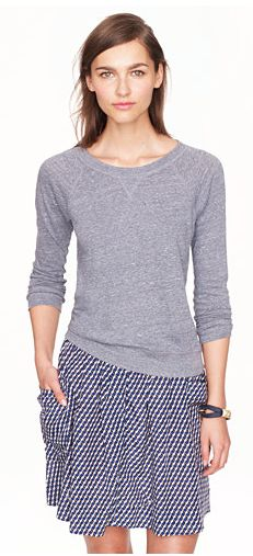 J.Crew SWEATSHIRT TEE // this looks super comfy and I would totally wear this to work.