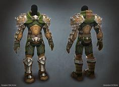 ArtStation - WOD - Dungeon Mail Armor, Genevieve St-Michel
