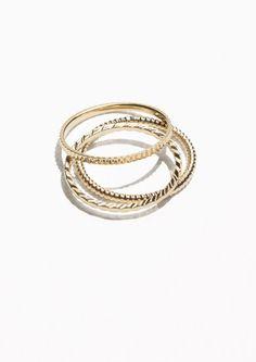 & Other Stories Stack & Layer Ring Set in Gold