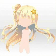 Draw Hair Starry Blonde Chibi Hair from CocoppaPlay Chibi Kawaii, Anime Chibi, Character Inspiration, Hair Inspiration, Character Design, Pelo Anime, Chibi Hair, Manga Hair, Cocoppa Play