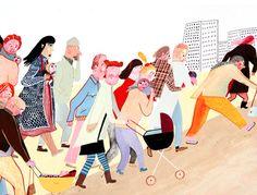 "Lisen Adbåge - Illustration from ""Stora bebisbytet"""