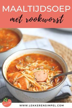 Meal soup with smoked sausage - # Kimchi, Easy Healthy Recipes, Easy Meals, Healthy Eating Habits, Happy Foods, Lunch Snacks, Curry, Everyday Food, Food Hacks