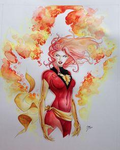 Jean Grey - Dark Phoenix by Vicente Cifuentes *