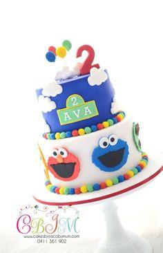Sesame Street Birthday Cake on satinice.com | Cakes By Jacobs Mum