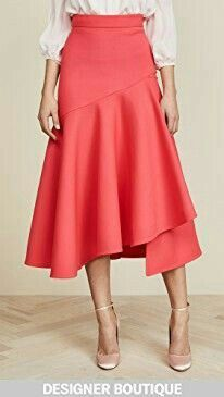 Temperley London Mercury Plain Ruffle Skirt In Pink Ruffle Skirt, Dress Skirt, Midi Skirt, Frilly Skirt, Ankara Mode, Mode Inspiration, Skirt Outfits, Red And Pink, African Fashion