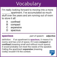 """The correct answer is D, """"spacious."""""""