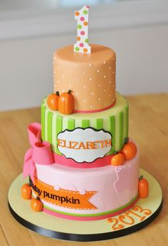 All sizes | Pumpkin 1st Birthday Cake | Flickr - Photo Sharing!