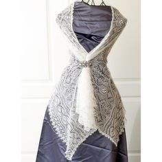 """Wedding shawl """"Cecilia"""" Knitting pattern by Rita Maassen Lace Knitting, Knit Crochet, Knitting Ideas, Crochet Style, Crochet Wedding, Bridal Shawl, Baby Scarf, Christmas Knitting Patterns, Lace Patterns"""